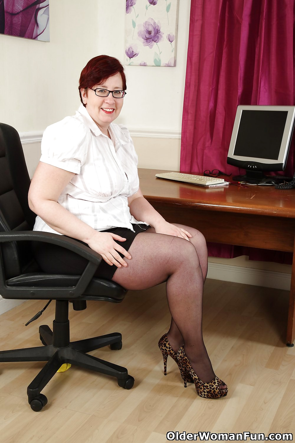 Mature nylon secretary