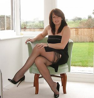 Very Hot Mature Milf in Stockings and High Heels