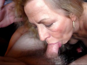Mature Attractive Wife Nice Set of Tits and Hard Nipples Sucks My Cock