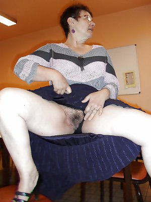 Mature and or chubby legs spread to show panties